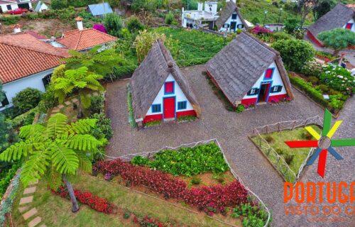 Casas típicas de Santana vistas do céu, imagens simplesmente magníficas